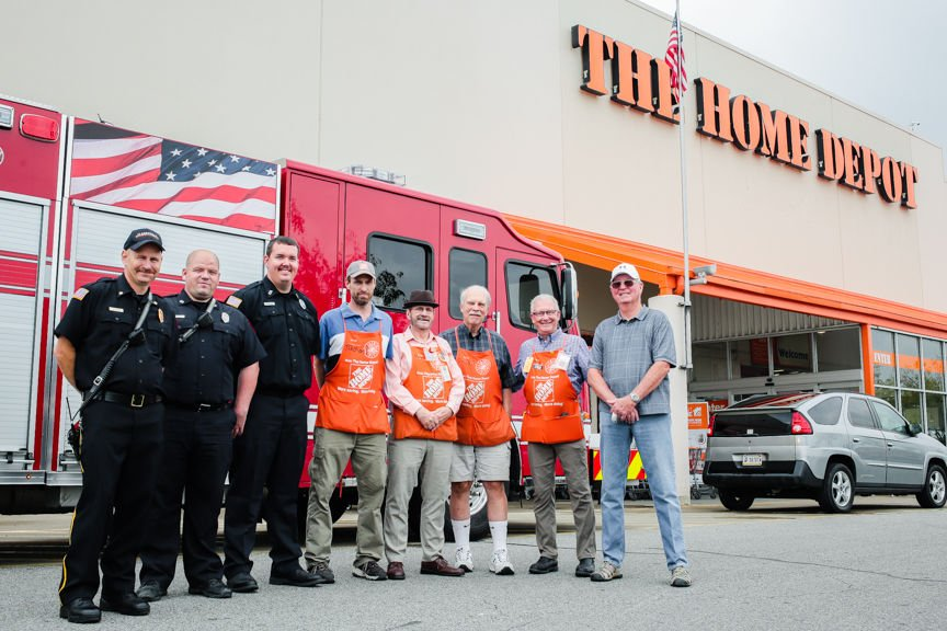 Clarksville fire department home depot and others team up to build wheelchair ramp 1 malvernweather Image collections