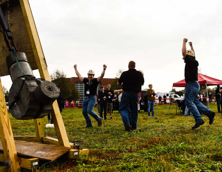 Purdue Students Win Harvest Pumpkin Chunking Event With First Direct