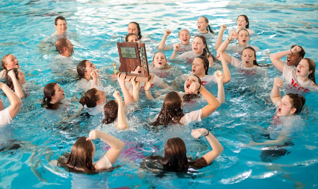 Girls Swimming Jeff Wins First Sectional Since 06 Sports