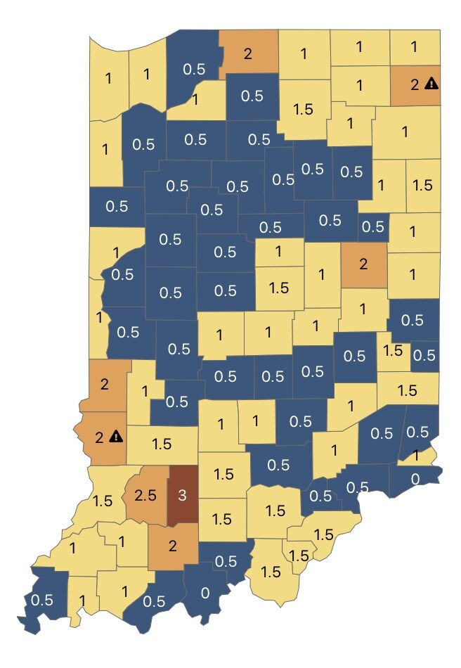 Statewide Covid 19 Map Offers Guidance For Indiana Schools News Newsandtribune Com