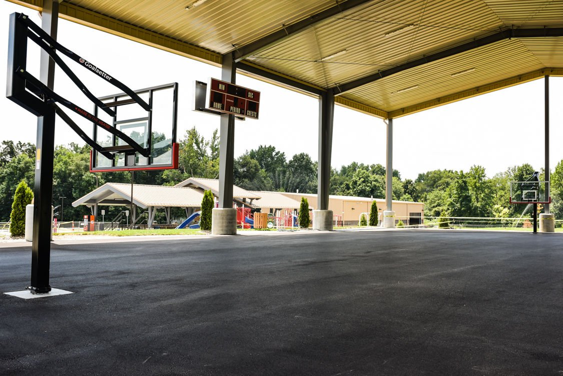one of a kind local businessman funds park s covered basketball court news newsandtribune com covered basketball court
