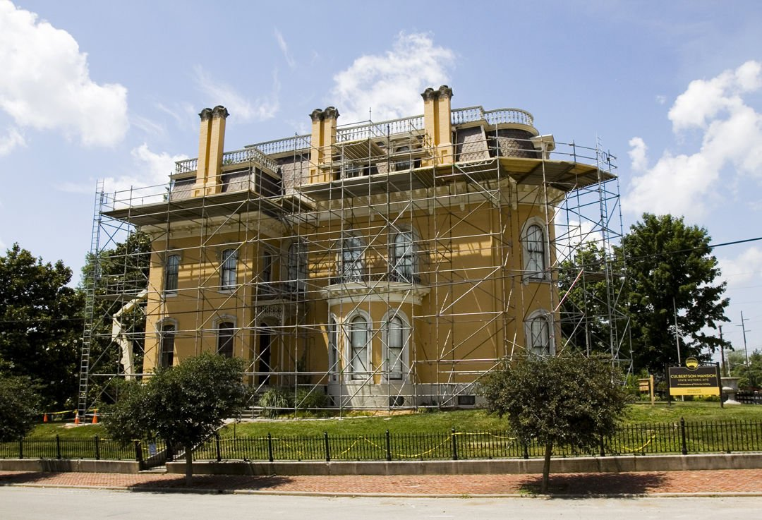 Work In Progress Culbertson Mansion In New Albany Getting