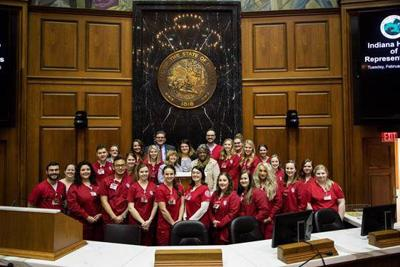 IUS nursing students visit Statehouse (copy)