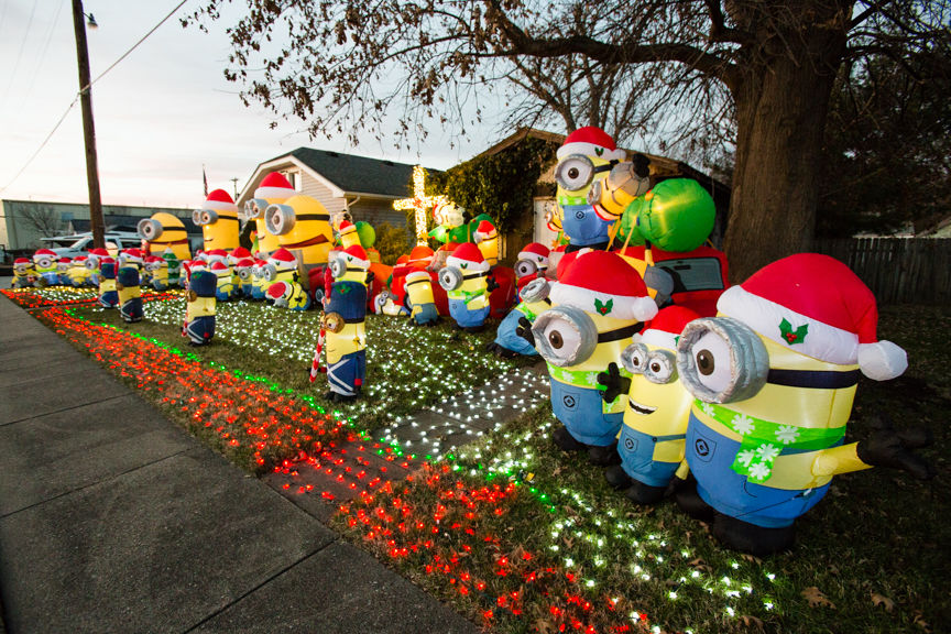 minion christmas display goes viral heres why the new albany homeowner did it news newsandtribunecom