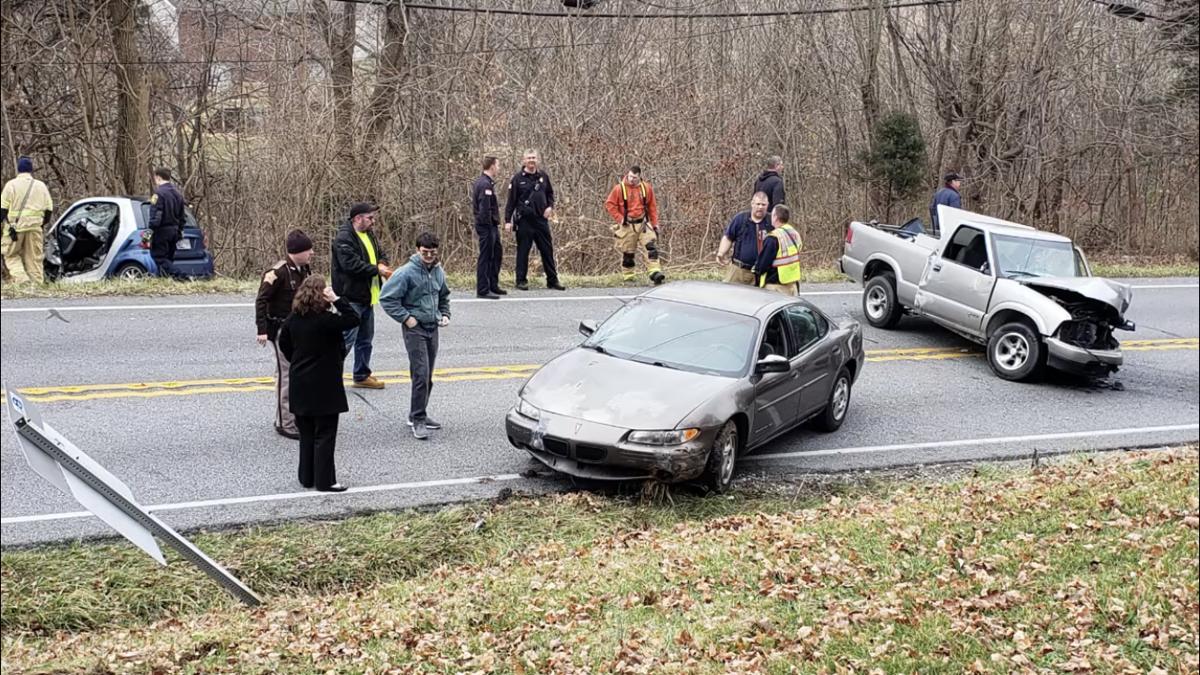 Three injured after multiple-vehicle crash on U S  150