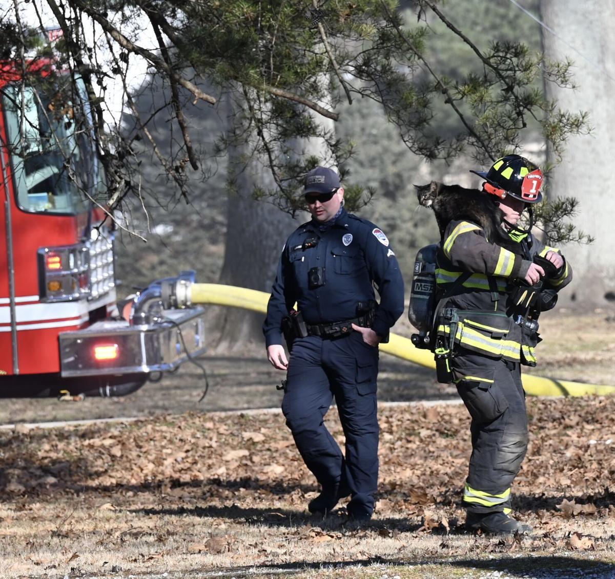 Utica Pike fire 2