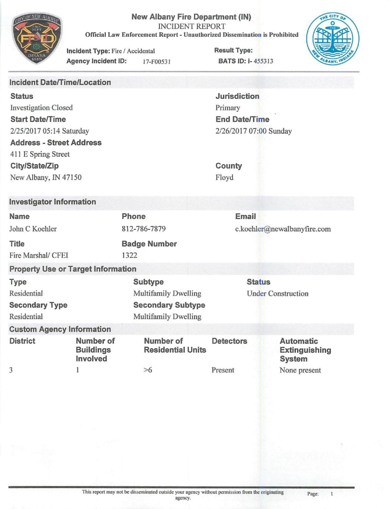 merveilleux Download PDF The Breakwater fire incident report