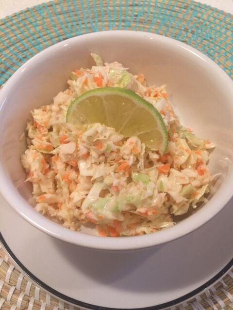 Cumin lime coleslaw