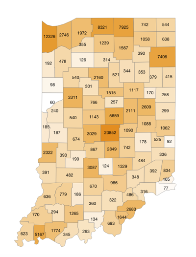 State COVID case map 10-15