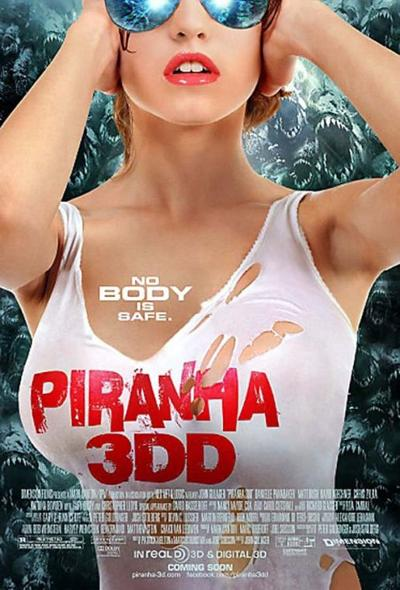"""Piranha 3DD"" movie poster"