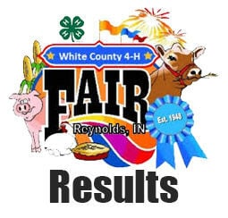 White County 4-H Fair Results logo stock image