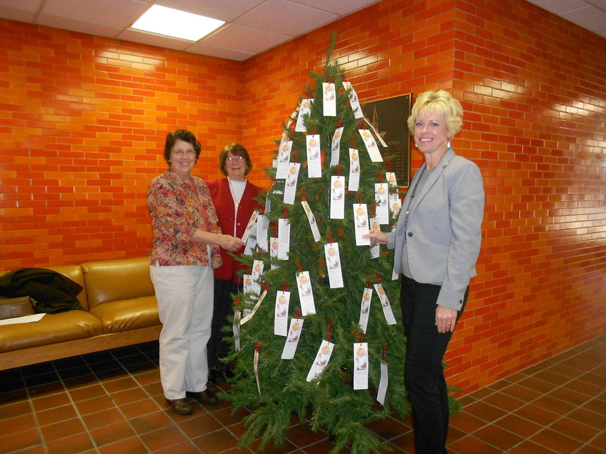 Indiana white county idaville - Angel Tree Program Chairperson Andi Janke White County United Way Executive Director Ellen Bartlett And County Commissioners Secretary Donya Tirpack Stand