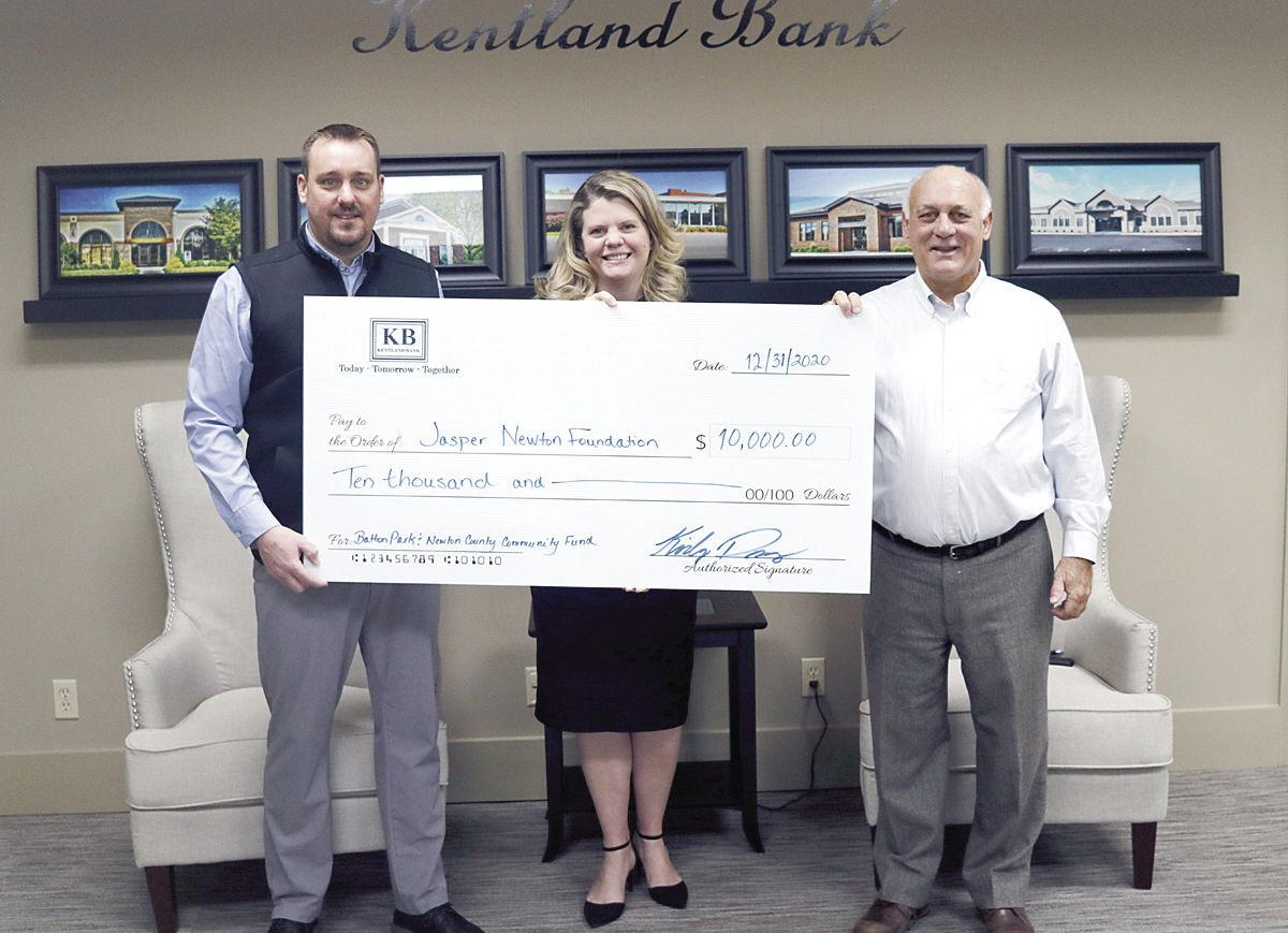 Kentland Bank donation to Batton Park