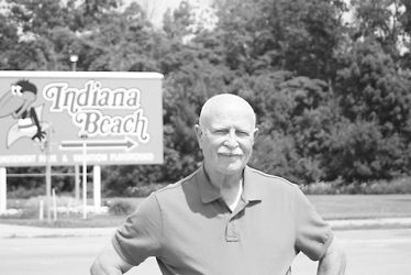 W C Madden Stands In Front Of The Indiana Beach Sign His Book On History Was Released April