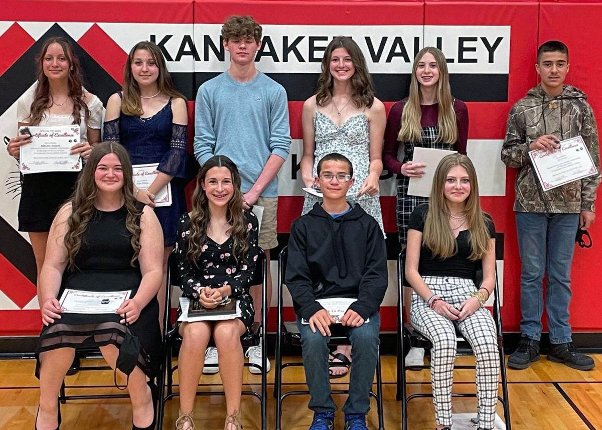 Eighth-Grade Medal Winners