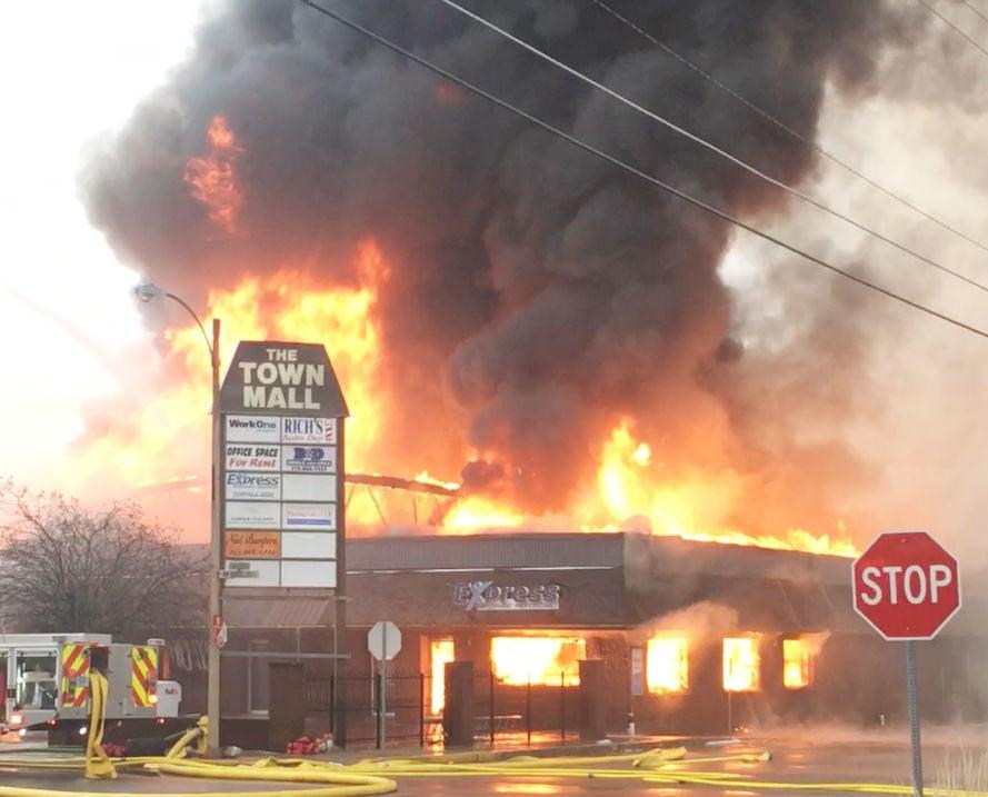 Town mall fire