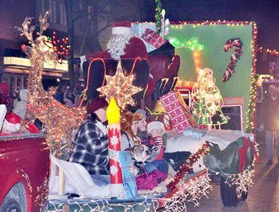 Santa visit during the parade