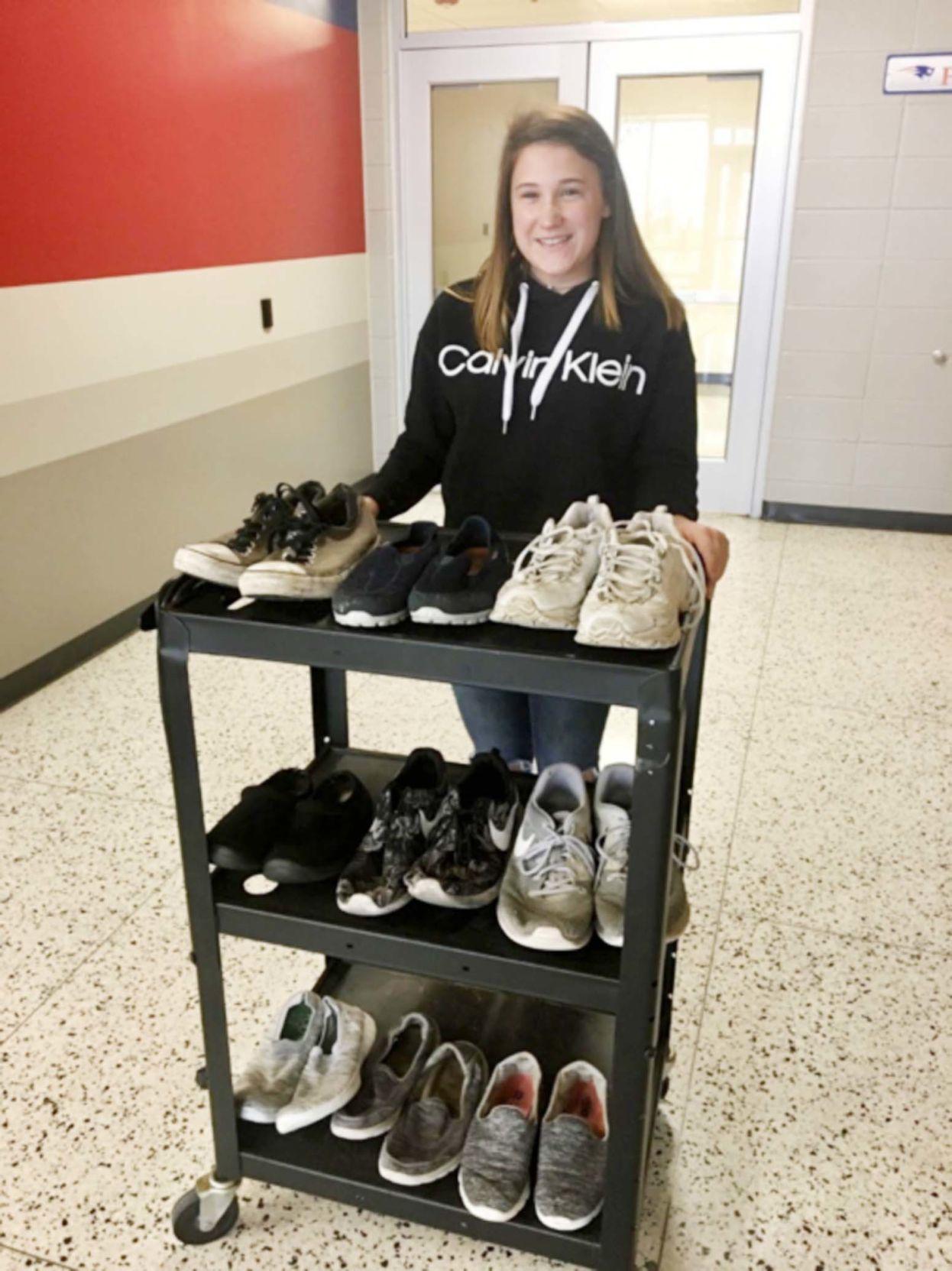 Seeger High School students seeks shoes