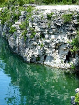 France Park cliffs