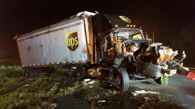 UPS truck catalyst in multi-vehicle crash