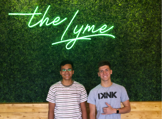 """""""The Lyme"""" owners, Elvin Gutierrez and Nick Mendel"""