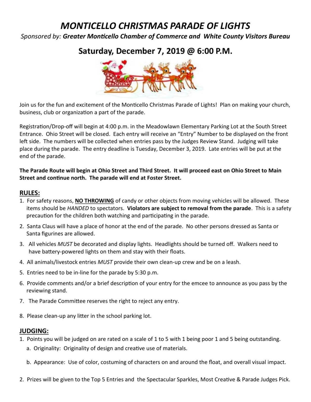 Download the parade rules and registration form