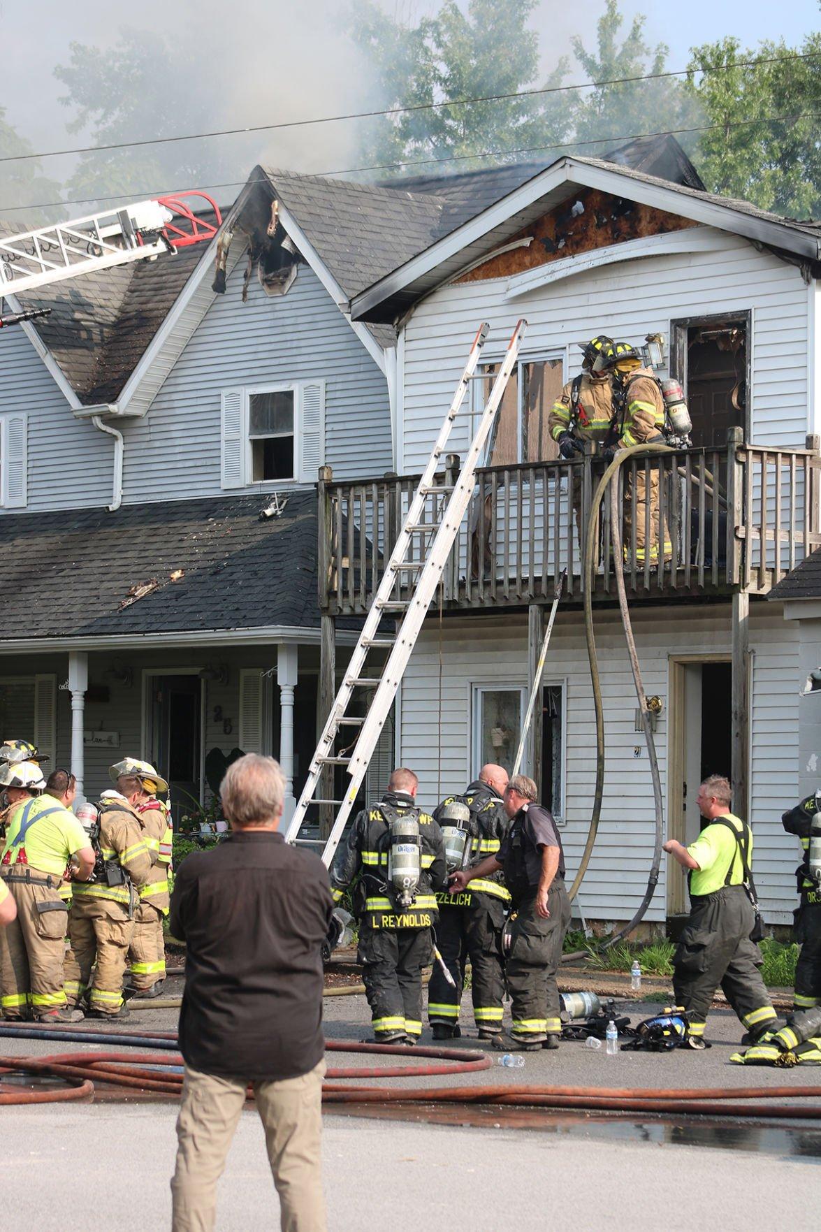 Two-home blaze