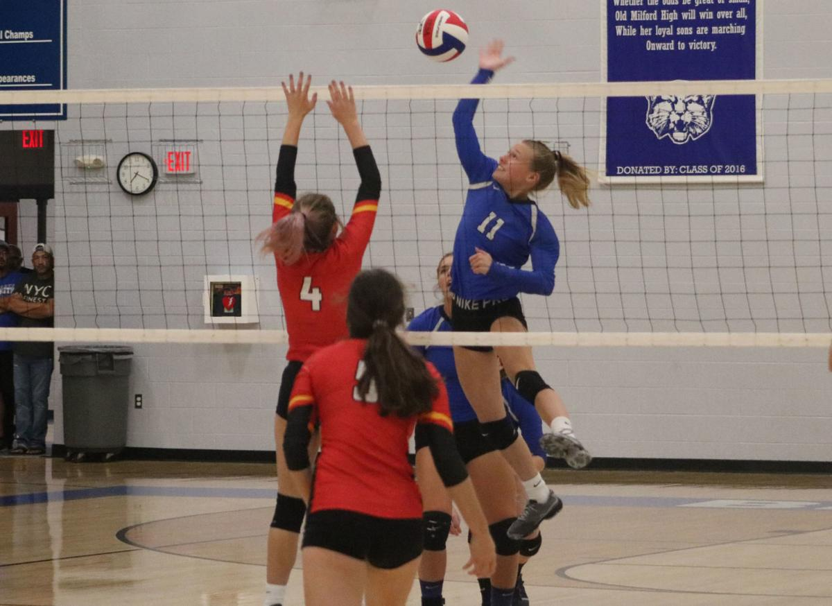 Lady Cats pounce Cardinals in Milford   Volleyball   newsbug
