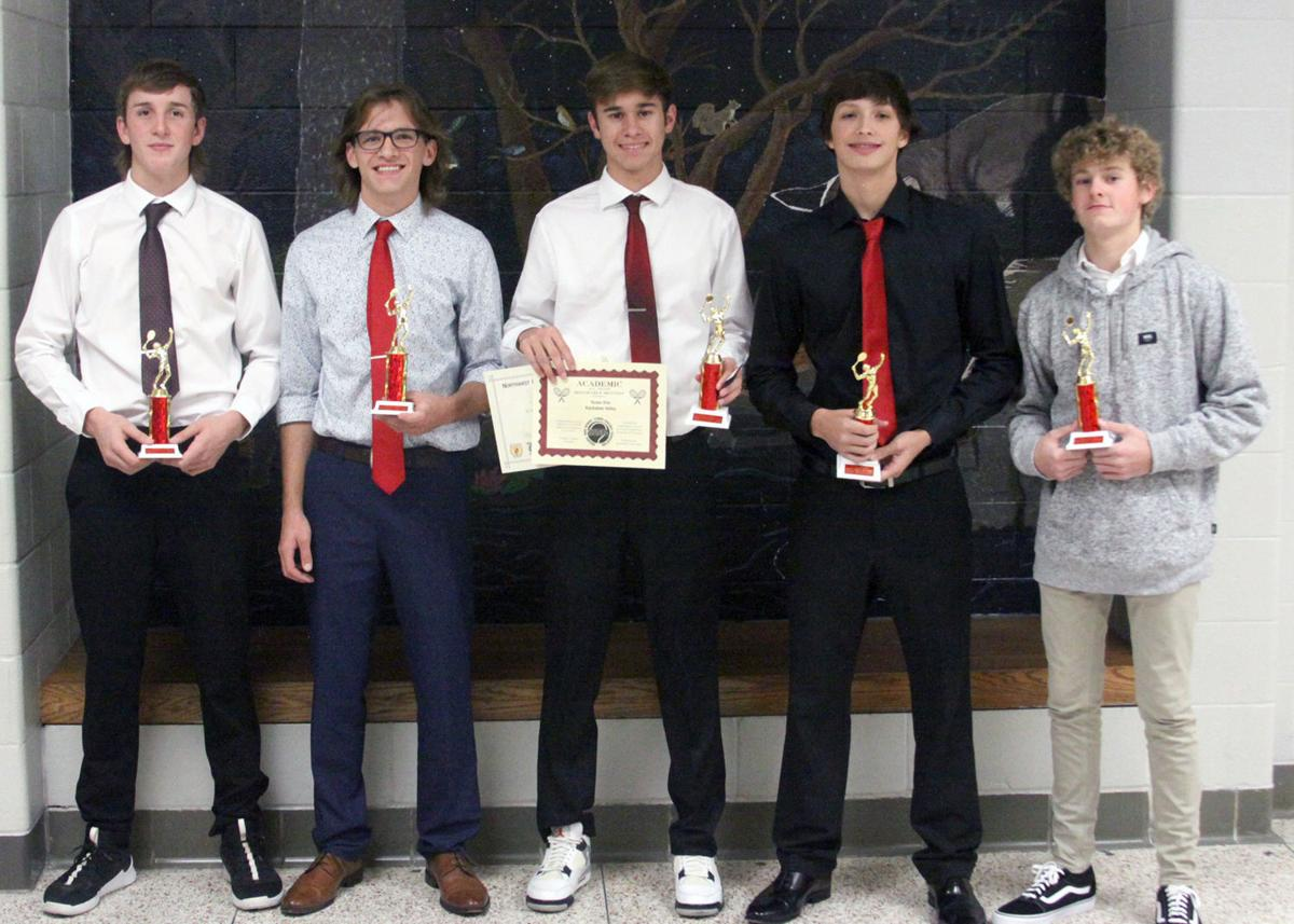 Varsity Boys Tennis KV Fall Sports Award Winners