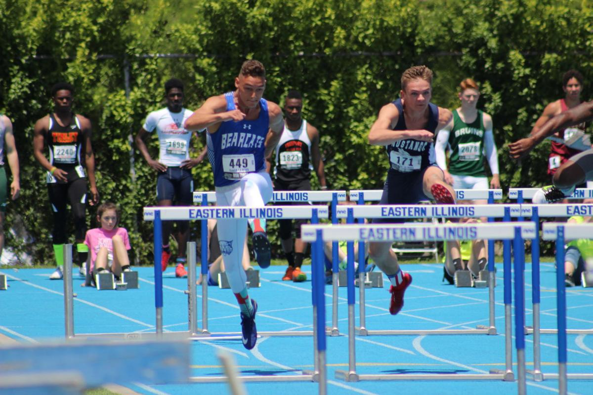 Illinois iroquois county loda -  And Ridgeview S Mason Barr Who Finished Fourth Approach The Second Hurdle Of The 110 Meter High Hurdle Race At The Illinois High School Association