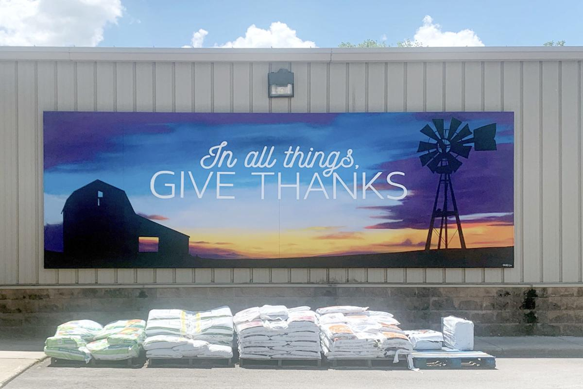 Give Thanks mural in Remington