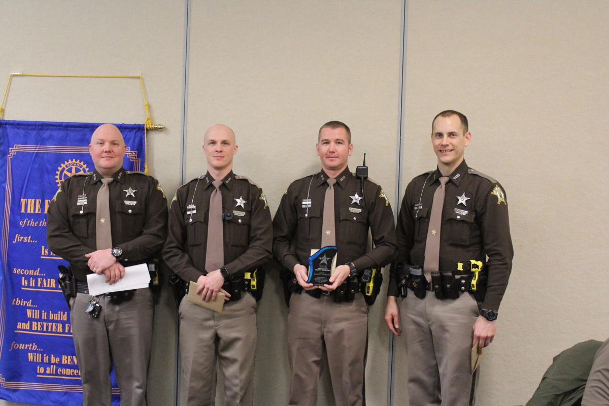 Indiana white county idaville - White County Sheriff S Deputy Brandon Mcleland Second From Right Stands Holding His Third Top Cop Award With From Left Deputy Aaron Page Deputy Joshua