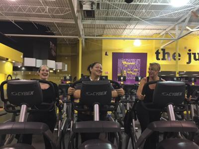 Goodwill of the Finger Lakes employees Anna Rivera, Monique Pascucci and Kate McMaster keep each other motivated by going to the gym together.