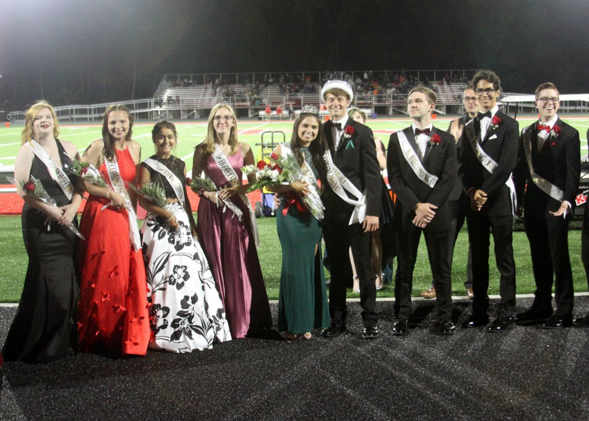 Homecoming Court after Crowning