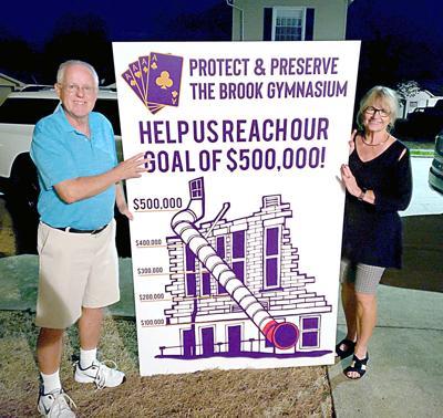 Brook Community Center fundraising marker