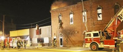 HFD battles fire in downtown Hoopeston