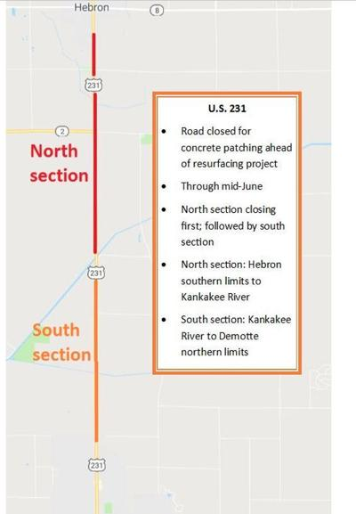 U.S. 231 to close for repairs