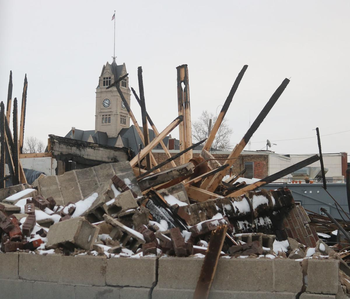 Piles of rubble