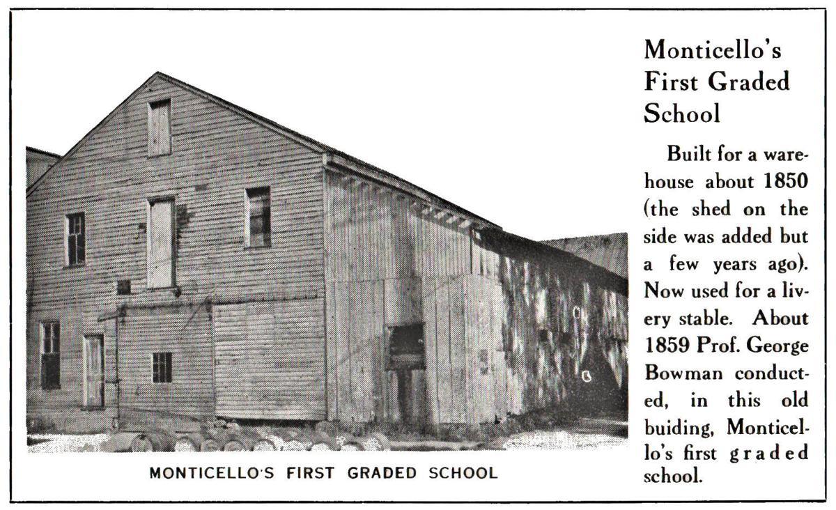 Monticello's first graded school