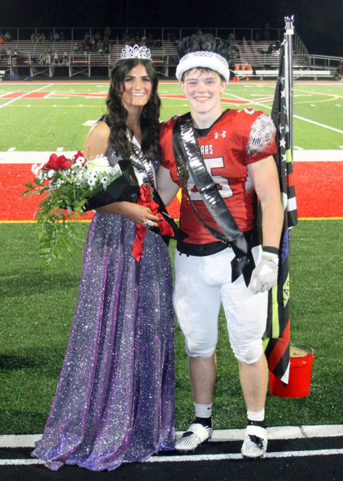 Kankakee Valley High School Homecoming King and Queen 2021