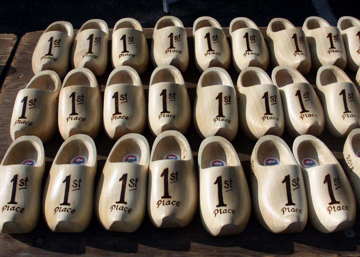 Wooden shoe trophies