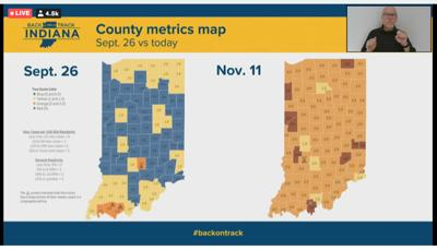 County metrics map