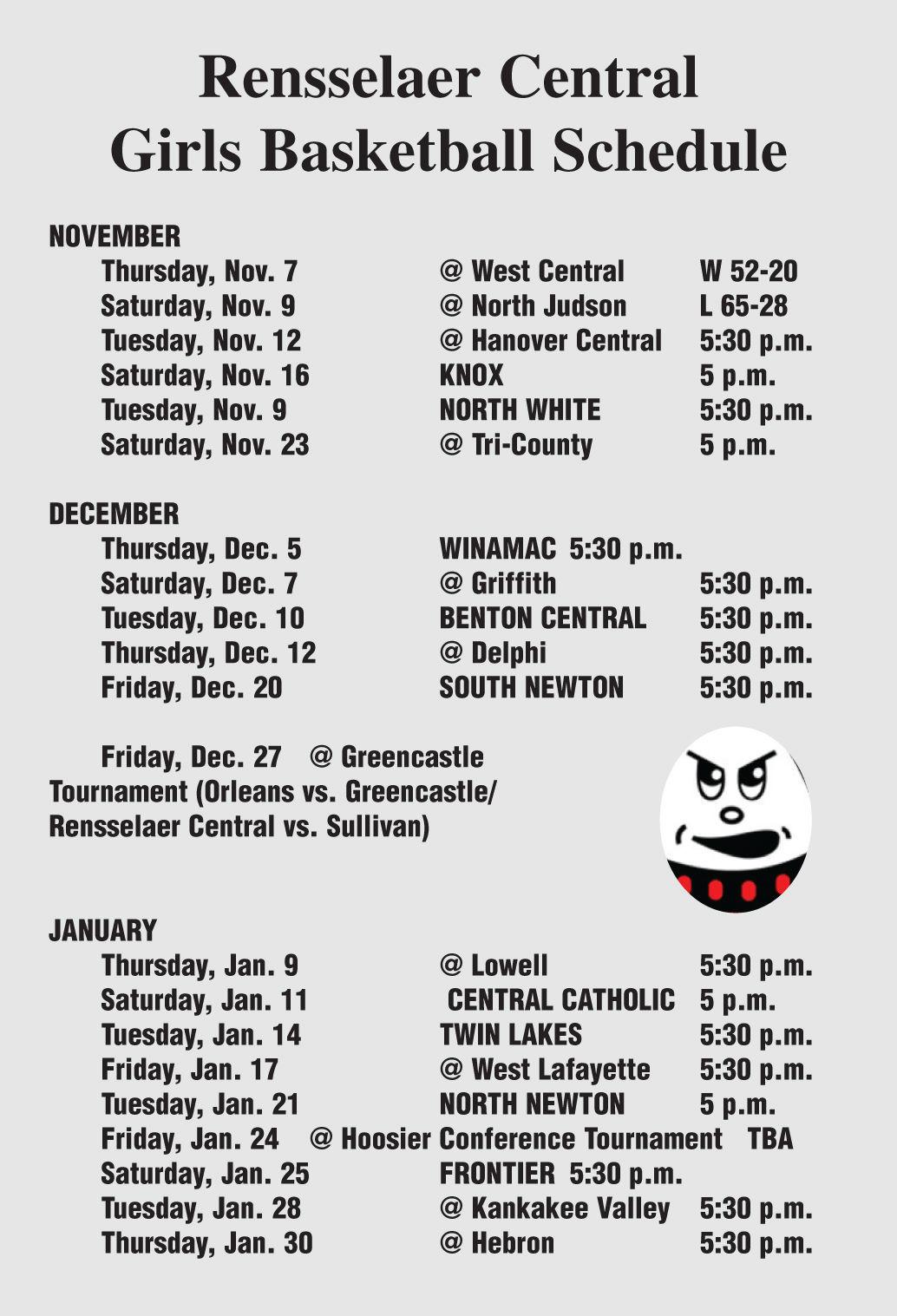 RCHS schedule