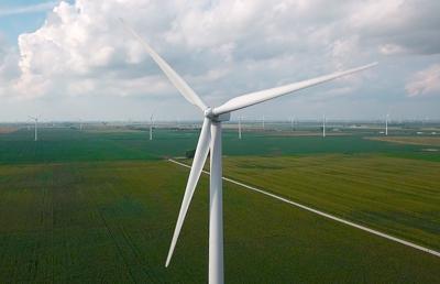 Wind turbine from drone