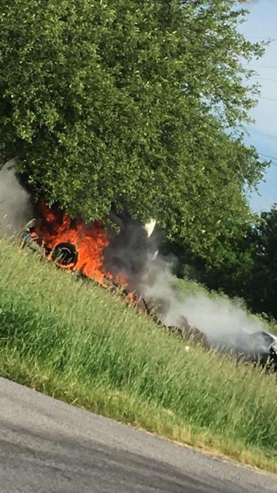Fiery accident at US 231 and County Line Rd near Hebron