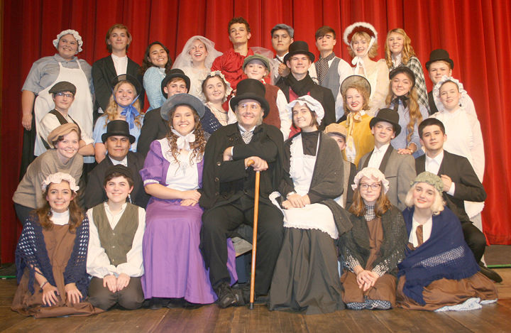 A Christmas Carol Cast.Snapshots The Cast Of Twin Lakes High School Production Of