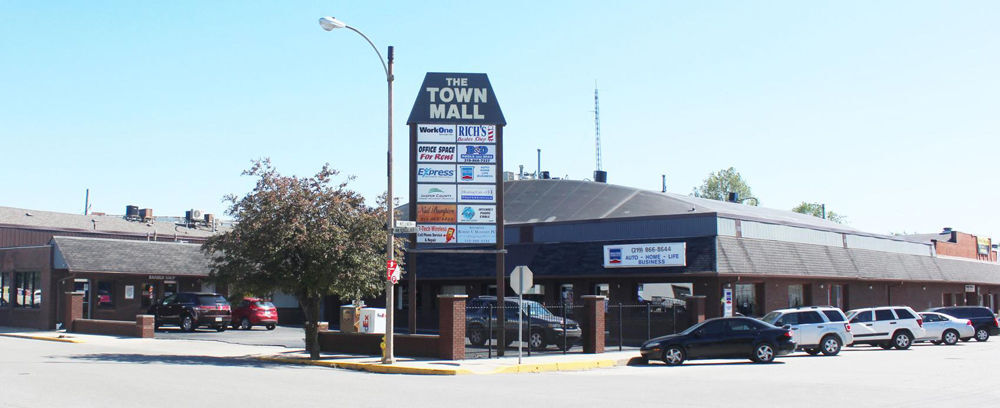 Town mall in its heyday