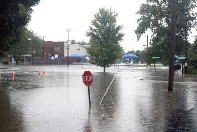 Flooding near Community Center