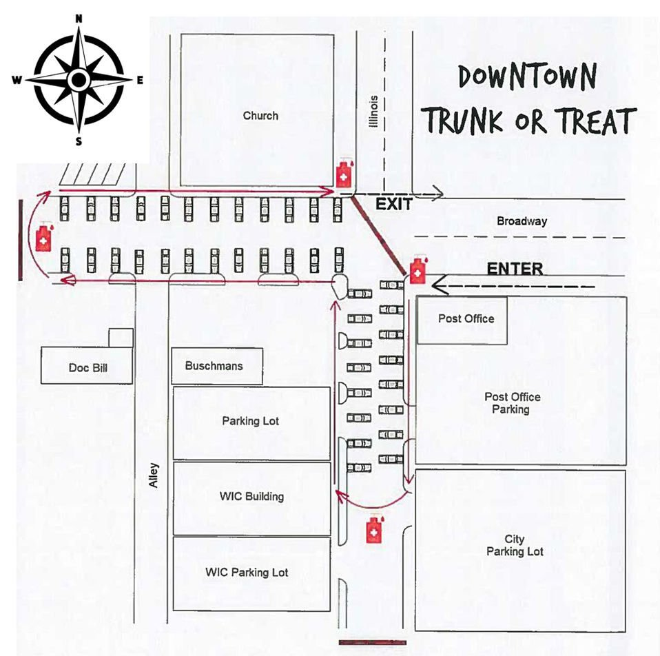Downtown Trunk or Treat map