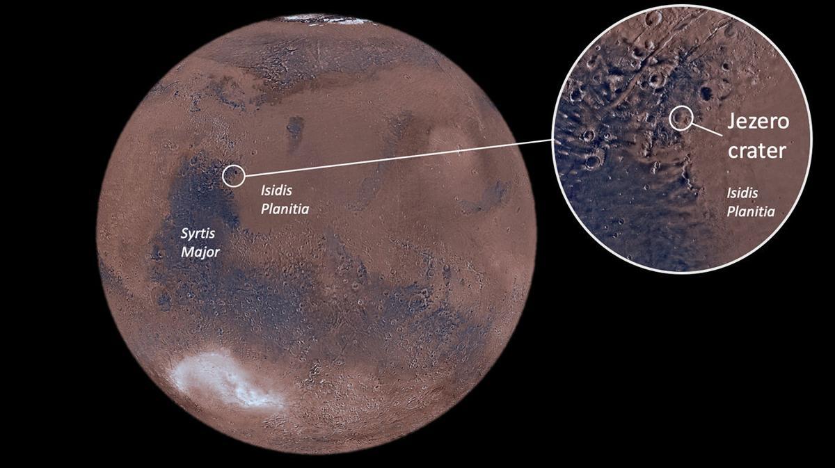 Mars landing location